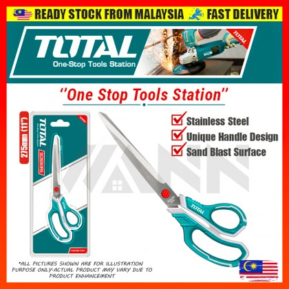 """TOTAL Stainless Steel Scissors 275mm (11"""") - THSCRS812801"""